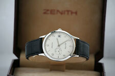 ZENITH CLASS ELITE HW MANUAL WIND 01 1125 650 MINT WITH BOX