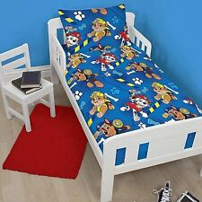 PAW PATROL JUNIOR COT BED DUVET COVER SET NEW