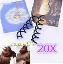 20X Women Metal Spiral Spin Screw Pin Hair Clip Twist Barrette Hair Styling Mo