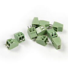10pcs 2 Pin 2.54mm 0.1'' Pitch PCB Mount Screw Terminal Block Connector