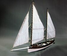 Scale 1/24 Sharpie wood ship model kit laser cut wood boat model kit