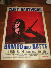 manifesto,,Brivido nella notte Play Misty for Me CLINT EASTWOOD,1971,E.BRINI