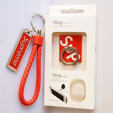 Supreme iPhone Case Ring Hook Holder Kickstand & Metal Keychain Set