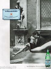 Publicité advertising 2002 eau Pétillante san Pellegrino