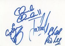 Ten years after autographes signed 10x15 cm onglet