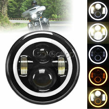 "7"" LED Projector Daymaker Headlight Angle Eye F Harley Street Glide FLHX Touring"
