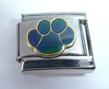 PAW PRINT MOOD STONE Italian Charm - Changes Colour fits 9mm Bracelets Moodstone