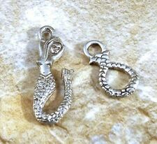 Pewter Mermaid Hook & Eye Clasp  -5004