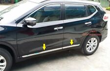 Stainless Steel Side Door Molding Trim Chrome For Nissan Rogue X trail 2014 2015