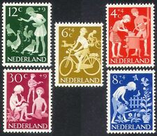 Netherlands 1962 Welfare Fund/Children/Cycling/Bikes/Music/Chickens 5v (n39912)