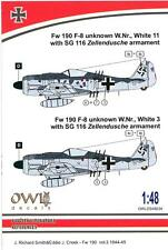 Owl Decals 1/48 FOCKE WULF Fw-190F-8 with SG 116 Zellendusche Armament