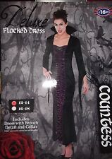 Vampire Goth Dress Countess Fancy Dress Cosplay Size 12 - 14  RRP £16.99