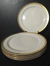 "SET 6 Pickard China - Palace - Dinner Plates Chargers 10.75"" Gold trim"