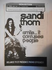▓ BON DE PRÉCOMMANDE SONY ▓ SANDI THOM : SMILE ... IT CONFUSES PEOPLE
