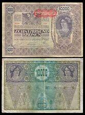 Austria 10000 Kronen overprint ND 1919 P 66 Fine