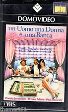 Un uomo, una donna e una banca (1980) VHS Domovideo 1a ed. - Donald Sutherland