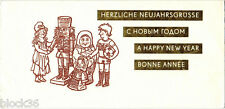 1981 NEW YEAR card CHILDREN BOOKS' CHARACTERS Greetings 4 languages
