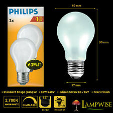 Philips 60W 240V ES E27 Classictone Frosted GLS Light Bulbs