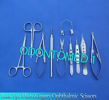 10 PCS BASIC EYE MICRO SURGERY OPHTHALMIC SCISSORS SURGICAL INSTRUMENTS