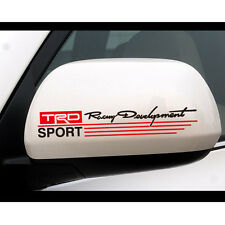 2X 15CM*6CM TRD RACING DEVELOPMENT SPORT CAR MIRROR STICKERS CAR DECAL