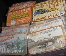 WHOLESALE LOT 12 US RT ROUTE 66 ROAD STREET SIGNS auto vintage america highway