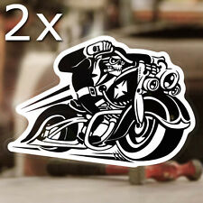 2x pieces Hellbiker sticker decal old school anarchy bobber chopper hell 4.75""