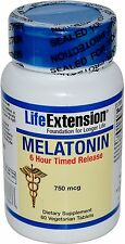 Melatonin Time Released, Life Extension, 60 tablet 750 mcg