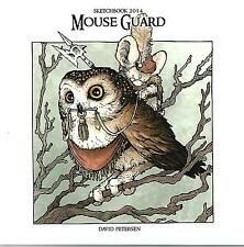Mouse Guard Sketchbook 2014 David Petersen S&N #353/500 NM- AB