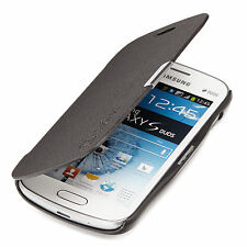 Samsung Galaxy S Duos GT-S7562 Slim Flip Case Cover Pouch Black