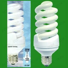 12x 30W (=150W) Daylight 6400K SAD White Light Bulbs Low Energy CFL ES E27 Lamps