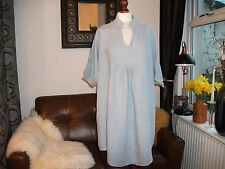 LOVELY Made in Italy colore blu pallido Biancheria / Pizzo Lagenlook Tunica Smock Tea Dress L