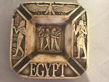 Unique Egyptian Ashtray Antique Pharaoh Royal Musical,Isis For Love Mad In Egypt