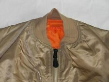 NEU*ALPHA INDUSTRIES FLIEGER BOMBER JACKE*MA 1 GOLD*AIR FORCE*RETRO*GR: XL*NEW