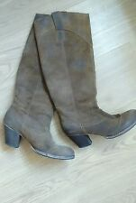Bertie boots tan suede boho knee high size 6