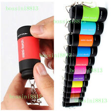 Mini Pocket Keychain Pocket Torch USB Rechargeable LED Light Flashlight Lamp New