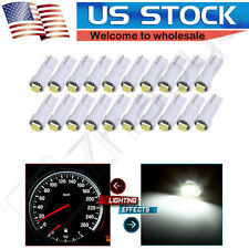 10x Twist-in White Instrument Dash Light LED Bulb PC74 Sockets T5 Kit For Honda