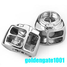 Chrome Switch Housings Cover for Harley Davidson Dyna Softail Sportster 96-06 GG