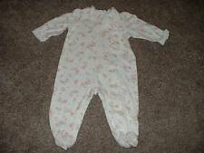 Little Me Floral One-Piece Outfit Sleeper Size 6M 6 Months Baby Girls Ruffle Bow