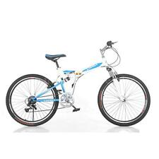 """Folding Carbon Steel Bike 7-speed Portable Bicycle 26""""  MENS WOMENS F8A2"""
