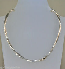 beautiful 925 sterling Silver double strand collarette 18 inch necklace 29.4g