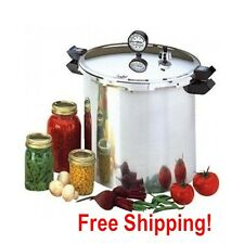 Pressure Canner Cooker 23 Quart Aluminum Large Canning Cooking Complete Pot