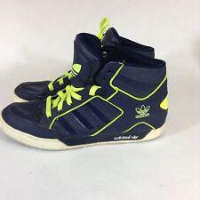 Adidas Art G48243 Hi Top Basketball Shoes Big Logo Navy Green   Sz 12