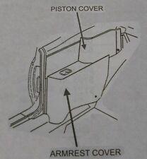 1965 67 Pontiac Fullsize & Chevy Impala & SS Convertible Rear Armrest Cover Set