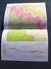carte géologique  SIERRA SALVADA Espagne
