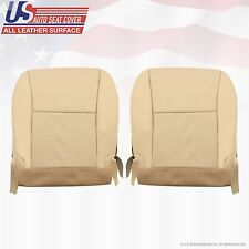 2010 Lexus RX350 Driver & Passenger Bottom Leather Seat Cover Tan Perforated