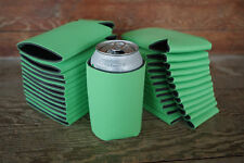 LOT of 25 LIME-Neon GREEN Can Coozies Blank Beer Soda Coolers Coolies