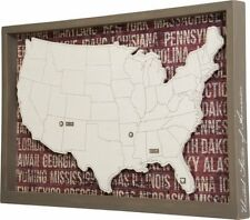USA Large Box Sign Framed Hearts Arrows Mark Your Travels Primitives by Kathy