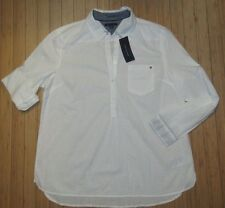 NWT WOMENS TOMMY HILFIGER L/S SHIRT~WHITE~XL
