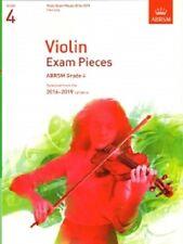 Grado 4 piezas de examen de violín 2016 - 19 ABRSM Libro Música sólo parte de violín