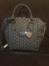 New GUESS DERIVE ONYX TOTE HOBO PURSE SATCHEL SHOULDER HANDBAG Logo Black White